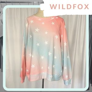 🆕 NWT WILDFOX Star Spangled Sommers Sweater